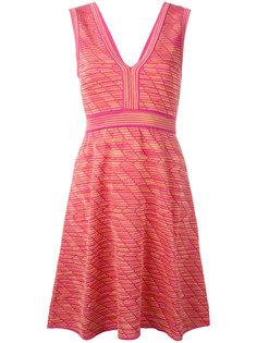 платье с принтом и глубоким вырезом M Missoni