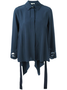блузка с фестонами на воротнике Fendi