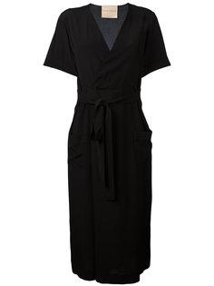 платье с запахом и поясом Erika Cavallini