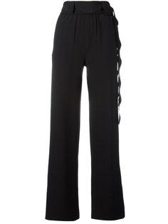брюки с поясом с отделкой фестонами Veronique Leroy