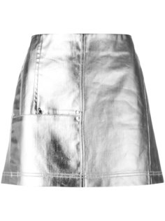 metallic denim skirt  Paco Rabanne