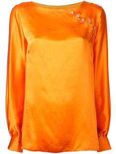 блузка с отделкой N Duo