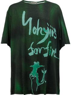 футболка с принтом логотипа Yohji Yamamoto