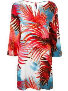 palm print dress Just Cavalli