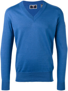 logo sleeve V-neck jumper  Rossignol