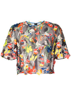 embroidered cropped blouse  Jason Wu