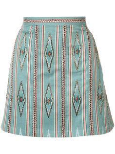 bead embroidered mini skirt Alice+Olivia