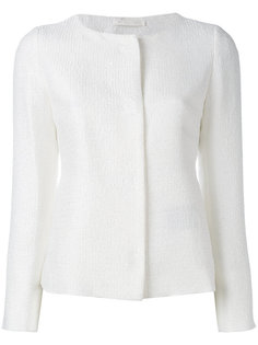 трикотажный пиджак без воротника Herno