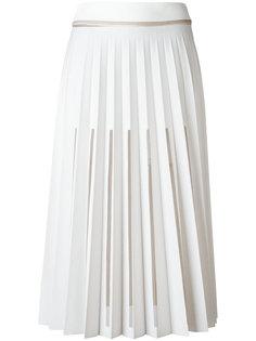 плиссированная юбка с вырезными деталями Ssheena
