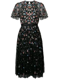 декорированное платье с открытой спиной Needle & Thread