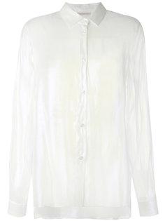 переливчатая шелковая рубашка Christopher Kane