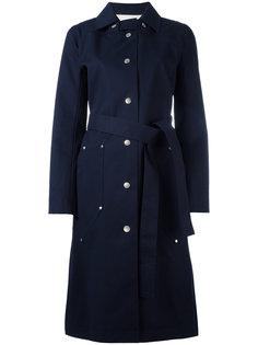 однобортное пальто Courrèges