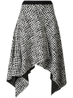 асимметричная юбка с мелким принтом Proenza Schouler