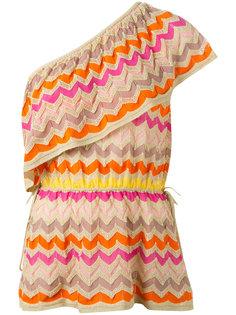 блузка на одно плечо с зигзагообразным узором M Missoni