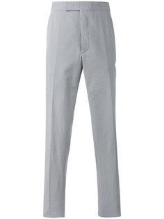 полосатые зауженные книзу брюки Thom Browne