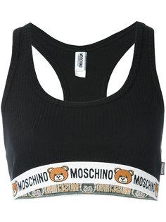 укороченный топ с отделкой логотипами Moschino