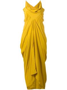 вечернее платье со сборкой  Rick Owens