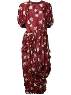 платье с цветочным принтом Simone Rocha