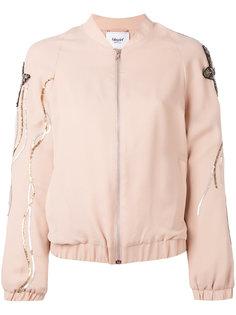 куртка-бомбер с вышивкой пайетками Blugirl