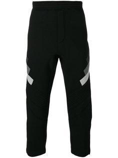 укороченные спортивные брюки Neil Barrett