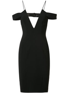 off-shoulders straps fitted dress Jay Godfrey
