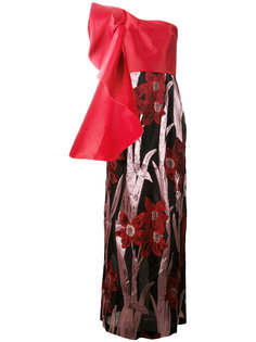 платье на одно плечо с цветочным принтом  Christian Pellizzari