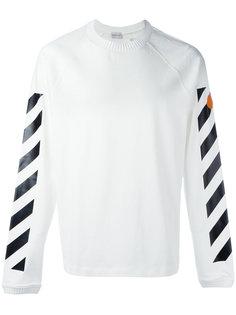 джемпер с логотипом и полосками Moncler X Off-White
