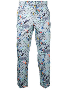 брюки-чинос с принтом птиц Loveless