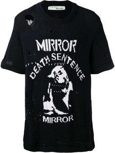 состаренная трикотажная футболка Off-White