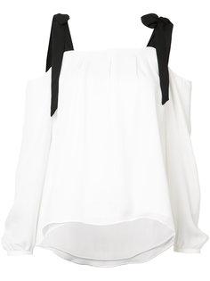 tie detail blouse  Nicole Miller