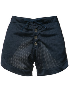 perforated satin shorts Greg Lauren