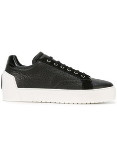 contrast lace up trainers  Giorgio Armani