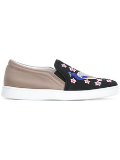 peacock embroidery slip-on sneakers Joshua Sanders