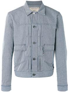 полосатая куртка с вышитым логотипом Maison Kitsuné