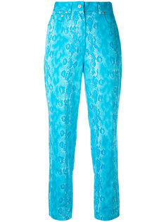 snake skin effect cropped trousers Versace Vintage