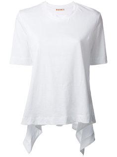 футболка с волнистым краем Marni