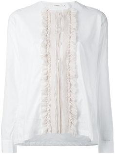 ruffled bib blouse Lareida
