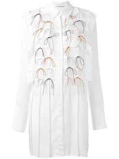 платье-рубашка с аппликацией бантиков Marco De Vincenzo