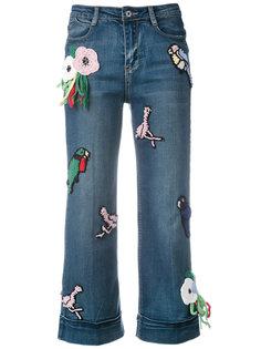 укороченные джинсы с вязаными заплатками Michaela Buerger
