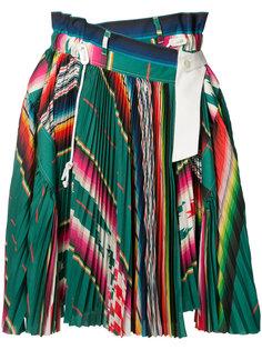 плиссированная юбка в полоску Sacai