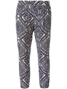 брюки с ацтекским принтом  Steffen Schraut