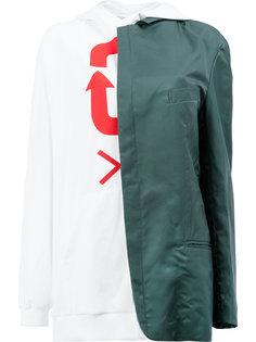blazer detail hoodie Moohong