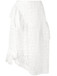 юбка с вышивкой Simone Rocha