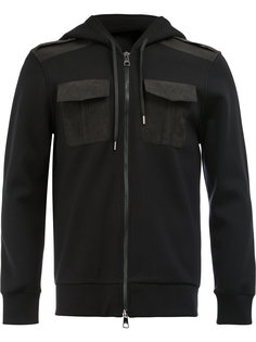chest pockets zipped hoodie Neil Barrett