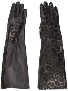 leopard print gloves Perrin Paris