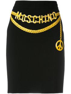 юбка с имитацией пояса Moschino