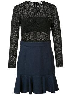 кружевное платье с длинными рукавами Veronica Beard