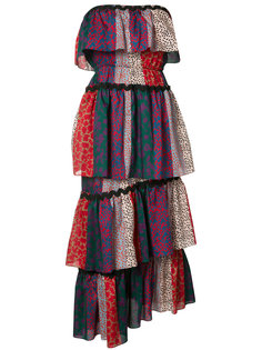 многоярусное платье без бретелек Sonia Rykiel