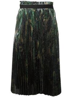 плиссированная юбка с эффектом металлик Off-White