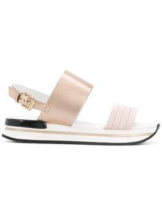 сандалии с замшевыми панелями Hogan